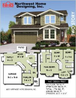 Design NHD 9937 European Two Story Home Design