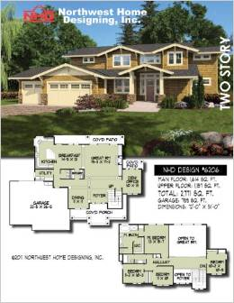 Design NHD 6206 European Two Story Home Plan