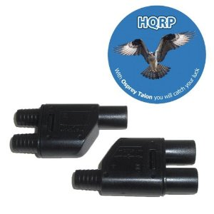 HQRP Pair MC3 T-branch Solar Panel Connector M/M/F
