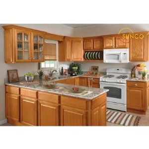 10x10 randolph oak kitchen for Kitchen cabinets 10x10