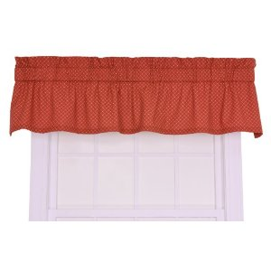 Tyvek Small Scale Diamond Tailored Valance Window