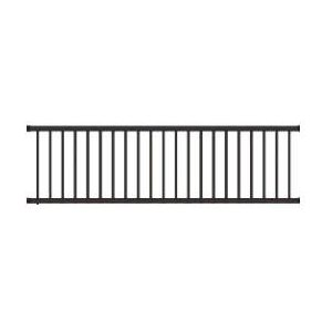 Wrought Iron Deck & Fence Railing - 3 ft High x 8